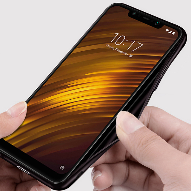 Xiaomi Pocophone F1 Luxury Shockproof Fabric Back Case Cover