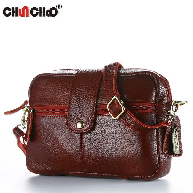 chunchao Brand Genuine Leather Bags 2018 Summer Women Messenger Bags Women  Handbags High Quality Sheepskin Shoulder Bags ladies