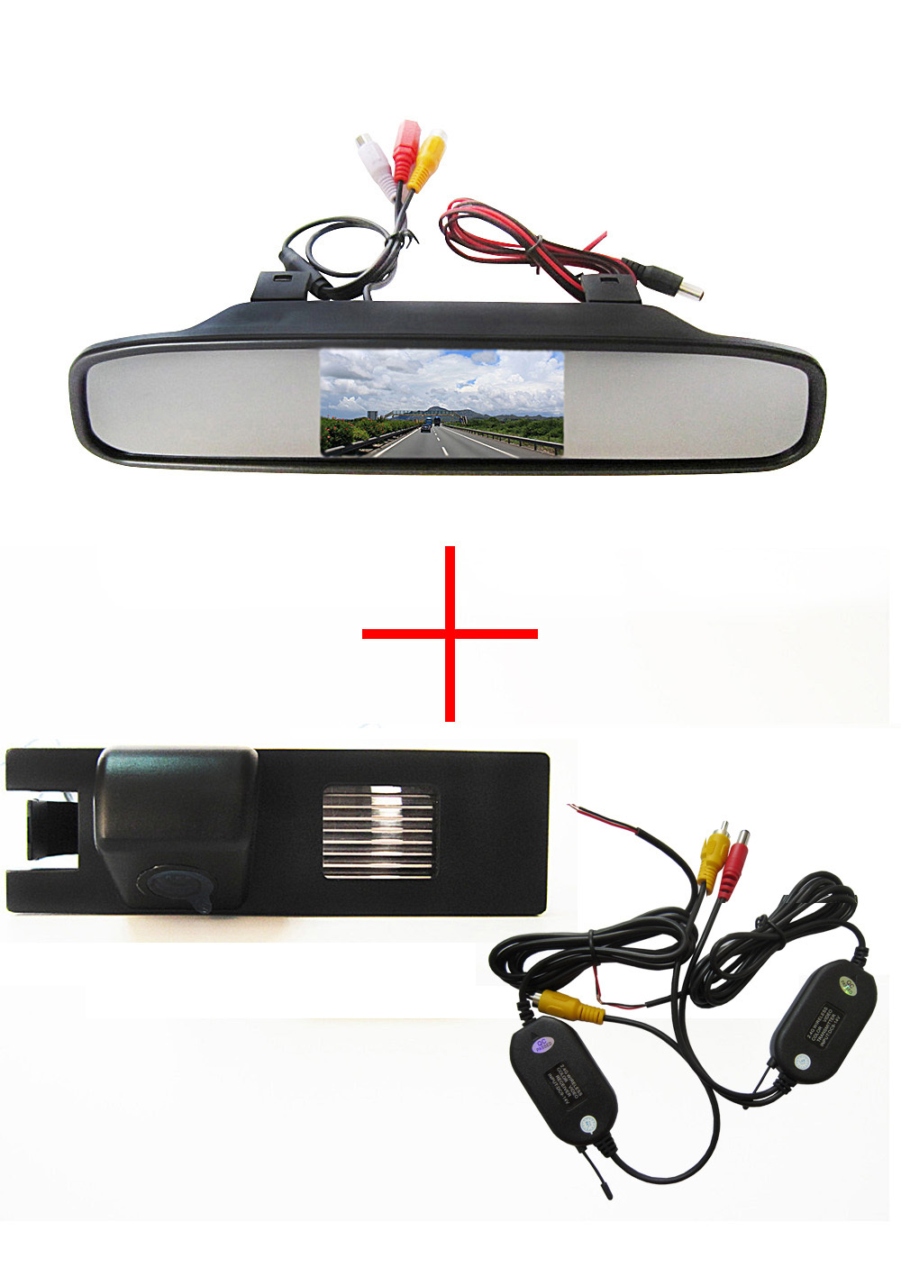 Wireless Car Rear View Camera for OPEL Astra H/Corsa D/Meriva A/Vectra C/Zafira B,FIAT Grande+4.3Inch rearview Mirror Monitor wireless control rgb color interior underdash foot accent ambient light for opel zafira a b c for chevrolet zafira tourer