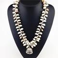2015 de alta qualidade shell resina moda contas de colar de jóias bib chunky choker declaração de colares & pingente pequeno sino colar