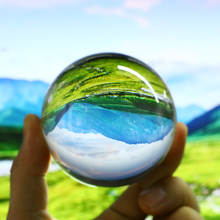 80mm Artificial Clear Crystal Glass Ball Magic Healing Background Sphere Globe Photography Balls Home Decoration Craft Lens Prop