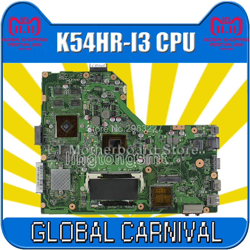 K54HR Motherboard I3-2350M/2330M For ASUS X54H X54HR X54HY K54HR K54LY Laptop motherboard K54HR Mainboard K54HR Motherboard k54hr x54h k54ly laptop motherboard for asus for i3 cpu full tested ok 6 months warranty