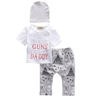 3 Pcs Clothing Set Newborn Babies Toddler Baby Boys Girls T Shirt Tops Long Pants Hat