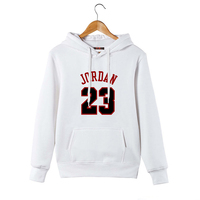 Hip Hop Streetwear Men Hoodie Sweatshirts Jordan 23 Printed Hoodie Pullover Winter Autumn Black Hooded Clothing