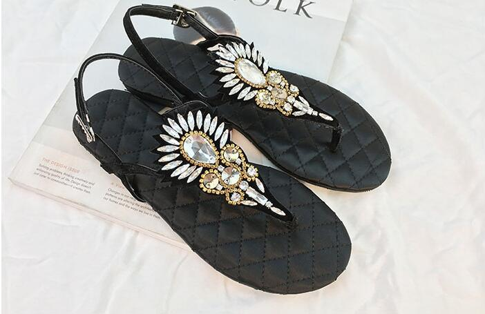 2018 Mulher Sapatos as Picture Marke As Schnalle Sandalen Moraima Schuhe Sommer Partei Strand Picture Strass Wohnungen Mujer Kristall Frauen Snc 6AxU4wqO
