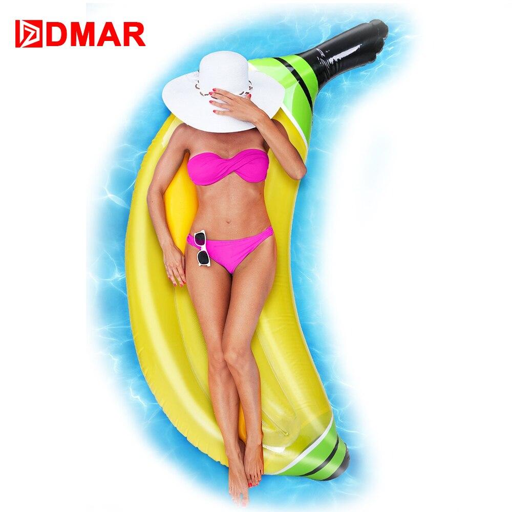 DMAR 180cm Inflatable Banana Gaint Pool Float Toys Beach Mattress Swimming Ring Lifebuoy Sea Water Party Toys Flamingo Unicorn