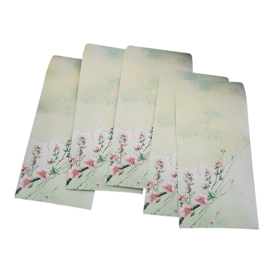 Affordable 10 Pieces Vintage Chinese Style Vintage Craft Paper Envelope For Letter Paper Postcards Peach Blossom