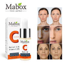 Mabox Vitamin C Serum+Six Peptides Serum 24K Gold+Hyaluronic Acid Acne Treatment Skin Care Repair Whitening Anti Anging Winkles