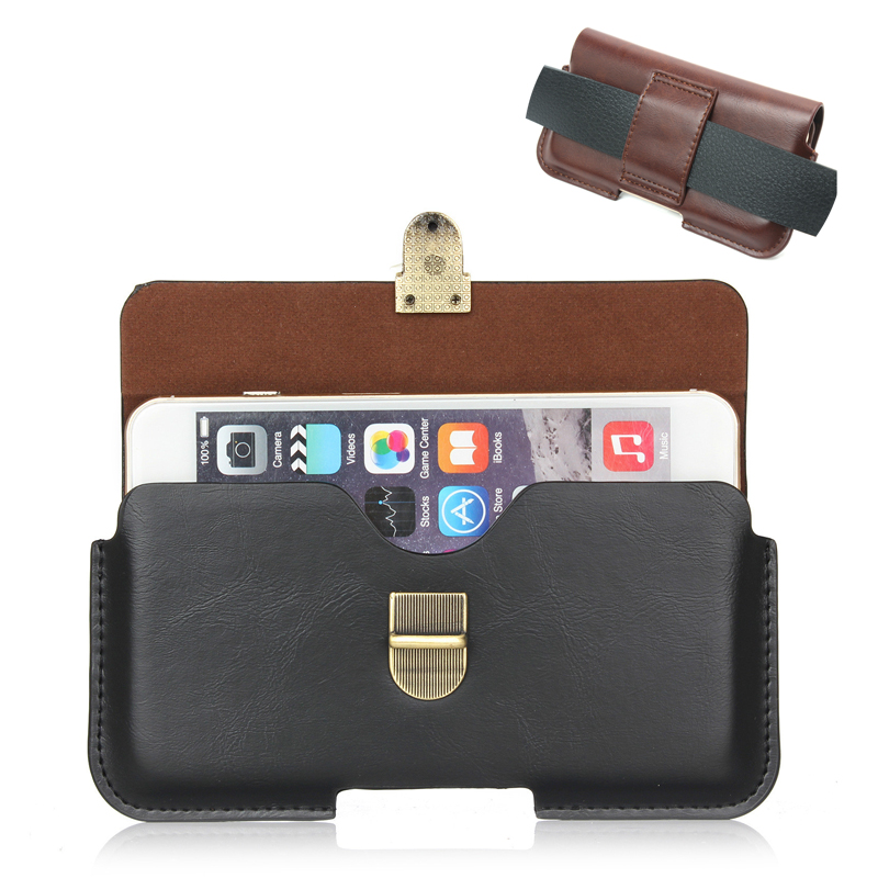 Retro Waist Belt Clip Pouch Cover For Xiaomi Redmi 4 Pro 4A 5 PLUS Note 4 Leather Case for Mi Mi6 Mix 5X Universal CellPhone Bag