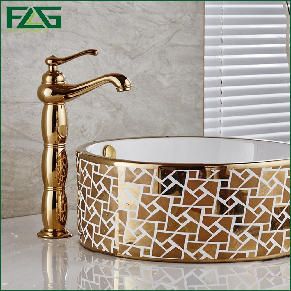FLG 2016 Top Sale Scandinavian -style Basin Faucet Golden Plate For Nobility Gold Copper Classic Cold & Hot Bathroom Mixer M121Y flg new modern accessories luxury european style golden copper toothbrush tumbler
