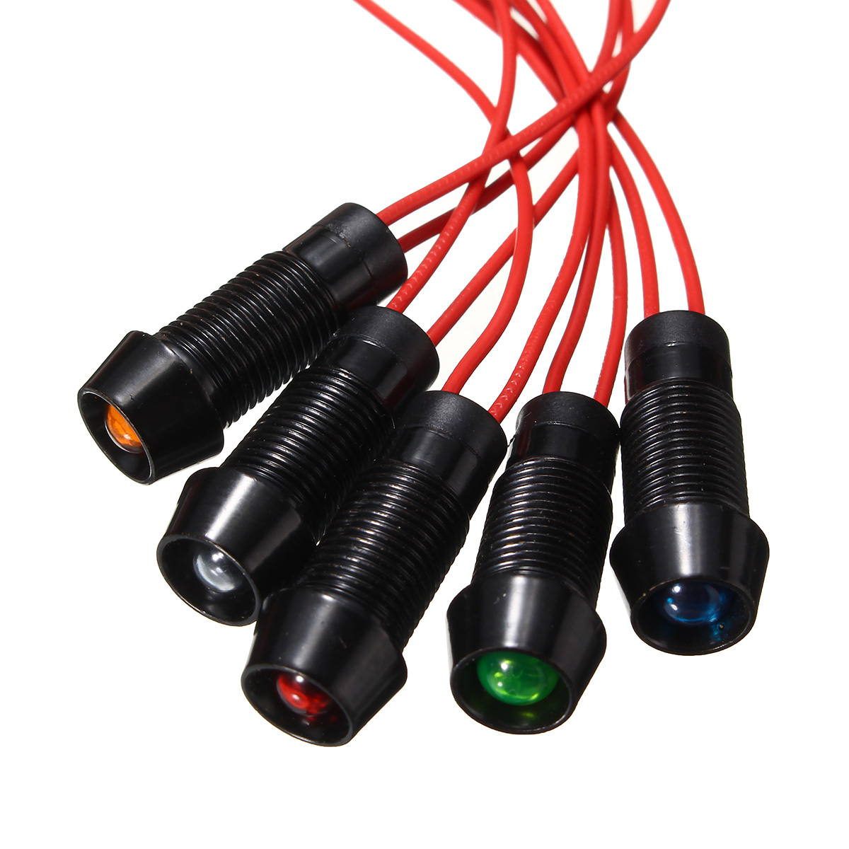 8mm LED Indicator Light Lamp Dash Directional Car Truck Motorcycle Boat Luminous Wire Indicator Signals Light