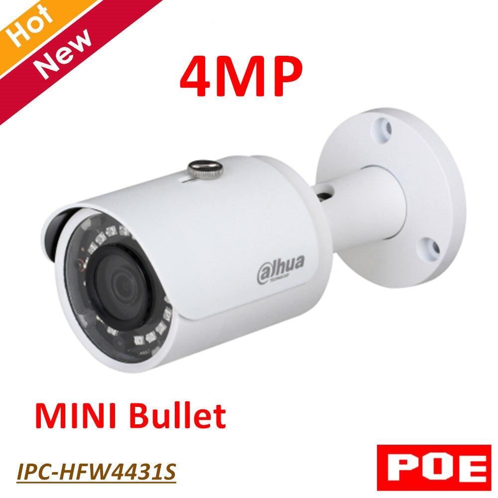 Dahua POE 4MP WDR IR Mini Bullet Network IP Camera Indoor Outdoor IP67 Support Smart Detection