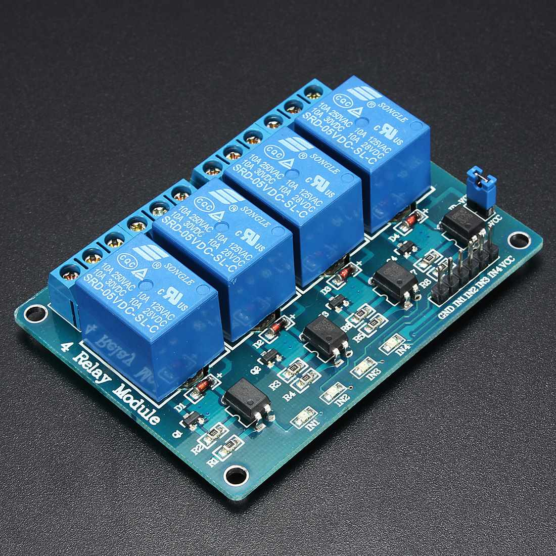 Buy New Electric Msp430 4 Channel 5v Relay Module The Newer Universal Remote Control Circuit With A Low Strigger For Arduino Pic Arm Dsp Avr Blue From Reliable Suppliers On