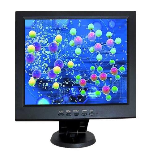 Monitor LCD de pantalla táctil resistiva de 5 hilos de 10,4 pulgadas con DVI, VGA para PC/POS - 2