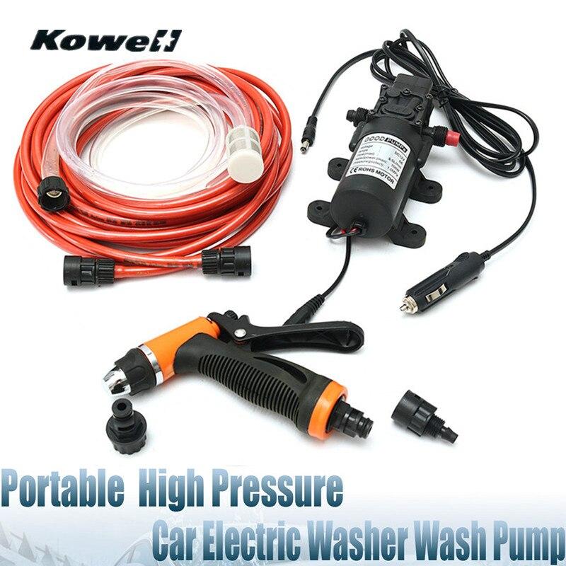 Kowell 12V 100W 160PSI High Pressure Car Washer Electric Auto Wash Pump Set Tool Portable High