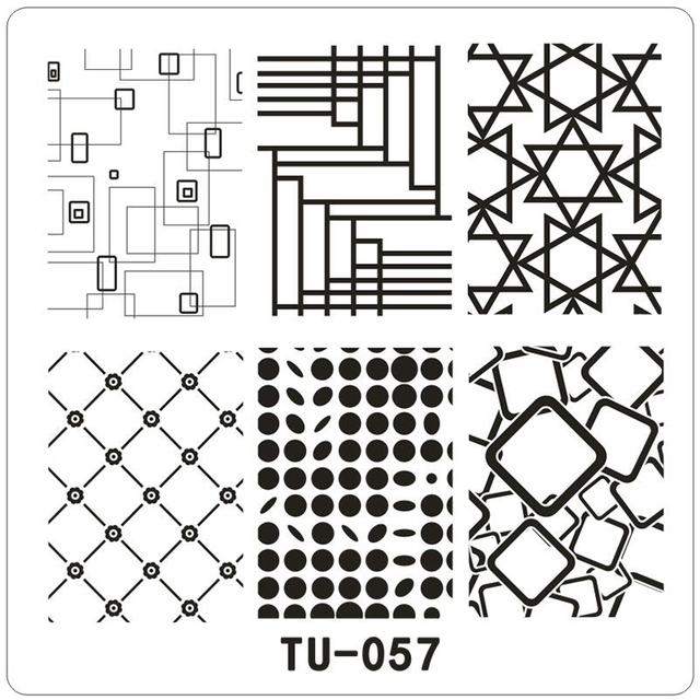 6 6cm square 6 patterns geometry series triangle grid spot image