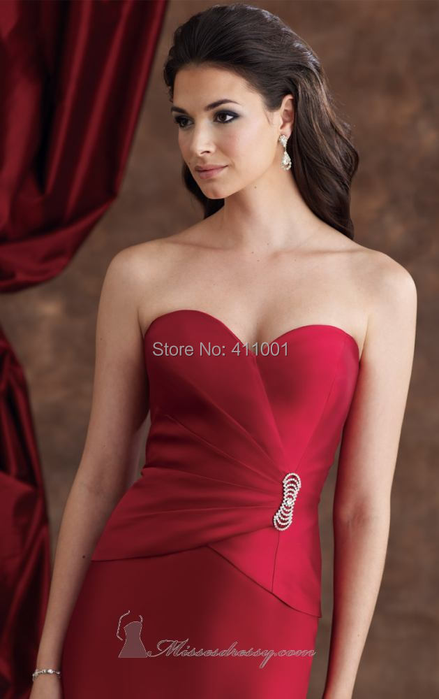 bf1199c0814 Red Cap Sleeved Three Quarter Silk Shantung Long Evening Formal Mother of  the Bride Dresses S M L XL 2XL 3XL 4XL 5XL-in Mother of the Bride Dresses  from ...
