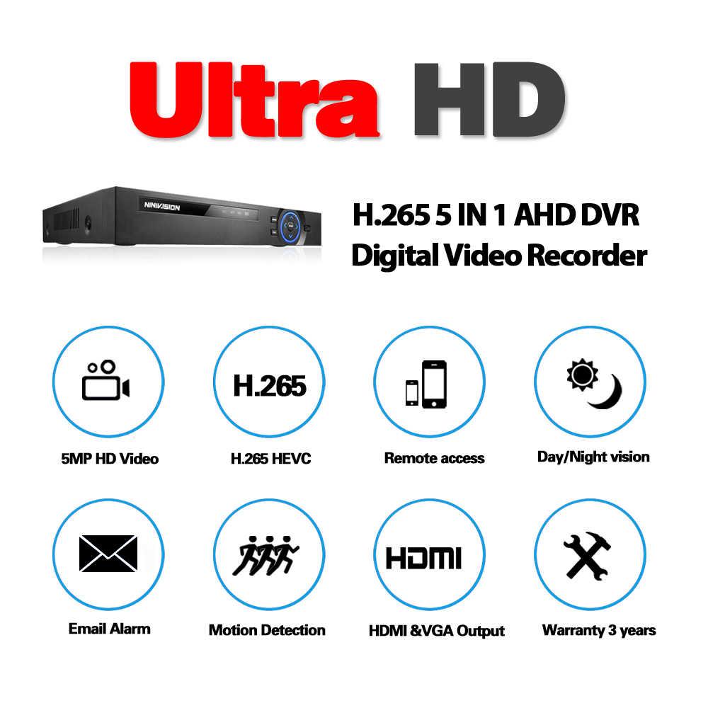 Новый супер 8CH 5MP AHD DVR цифровой NVR видео рекордер для CCTV камеры безопасности IP Onvif сети HD 5.0MP сигнализация многофункциональная