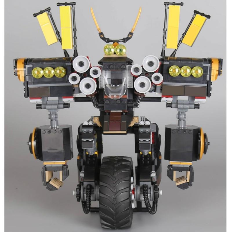 Lepine 06069 1346 Pcs Ninjagoe Quake Mech Set Jay Kai A Gang's Model Building Blocks Toys for Children Compatible Legoe 70632 lepine model