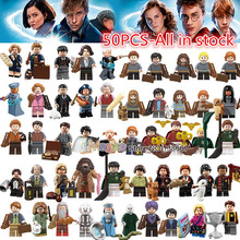 Legoings Figures Fantastic Beasts Rubeus Dobby Hagrid Seamus Finnigan Hermione Moody harri potter building Block friend Gift Toy(China)