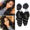 World Best Hair Malaysian Loose Wave Virgin Hair 4 Pcs Lot 7A Unprocessed Malaysian Deep Loose Wave Human Hair Bundles On Sale