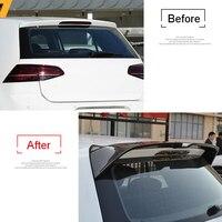 Углеродного волокна задний багажник спойлер крыло 1 шт. для VW Golf Mk7 2014 2018 5 дверей