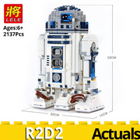 lele Star Plan Series 35009 The R2D2 Robot Building Blocks compatible with LegoINGlys 10225 Brick birthday gift Educational toys