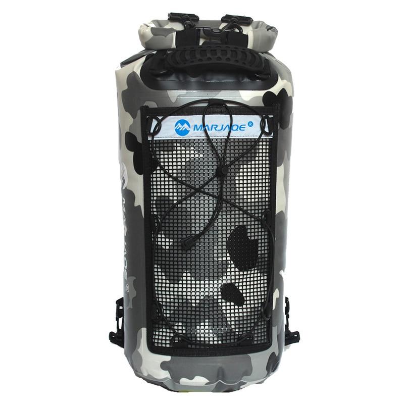 25L 500D PVC Waterproof Bags Storage Double Shoulder Straps Dry Sack For Canoe Kayak Rafting Travel Backpack Outdoor Sport Bag