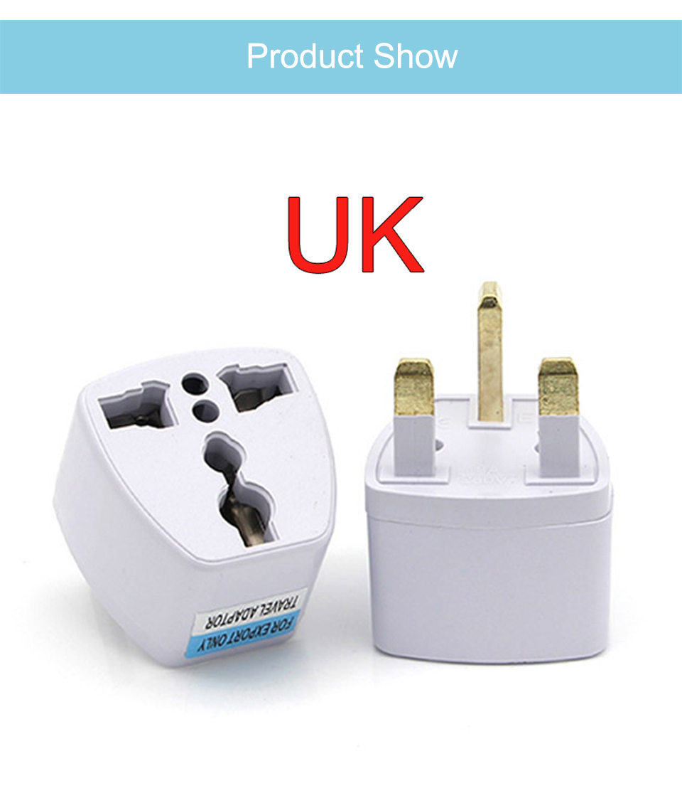 New Arrival 1 PC Universal UK US AU to EU AC Power Socket Plug Travel Electrical Charger Adapter Converter Japan China American (6)