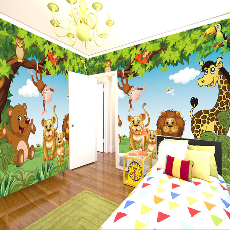 Cartoon Animation Child Room Wall Mural For Kids Boy Bedroom Wallpapers Wallpaper Custom Any Size In From Home Improvement On