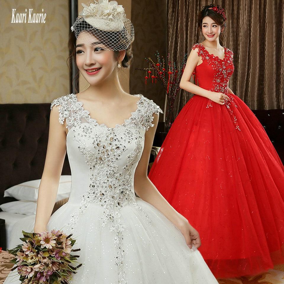 Glamorous Red Wedding Dresses 2018 New Plus Size Long ...  Glamorous Red W...