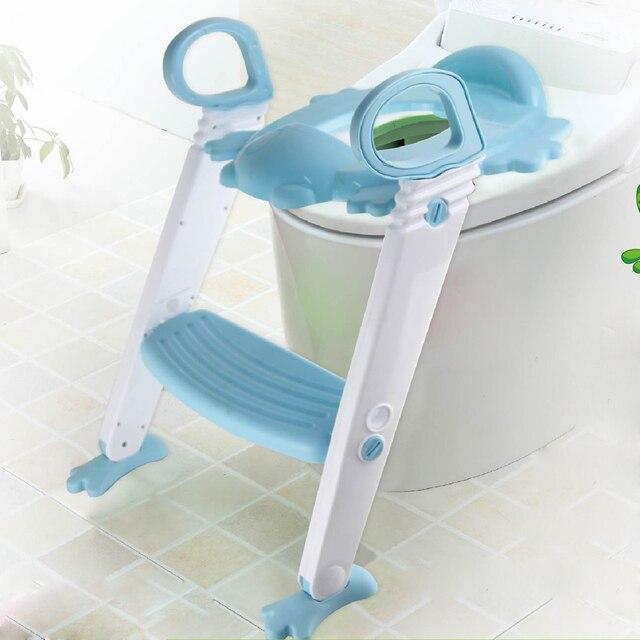 Bebe Siege De Toilette Pliant Petit Pot Chaise Etape Avec Reglable Echelle Enfant