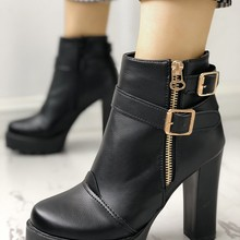 758a2e97385 Buy designer chunky boots women and get free shipping on AliExpress.com