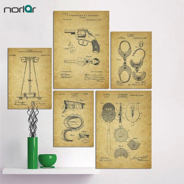 alte patent zeichnungen leinwand poster malerei lgem lde leinwand wandbilder cuadros. Black Bedroom Furniture Sets. Home Design Ideas