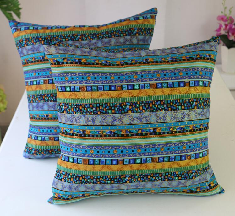 Fyjafon 2pcs Decorative <font><b>Pillow</b></font> <font><b>Case</b></font> Woven Pillowcase Cotton Linen <font><b>Pillow</b></font> <font><b>Cases</b></font> Cushion Chair <font><b>Pillow</b></font> Cover 45x45/<font><b>50x50</b></font>/60x60 image