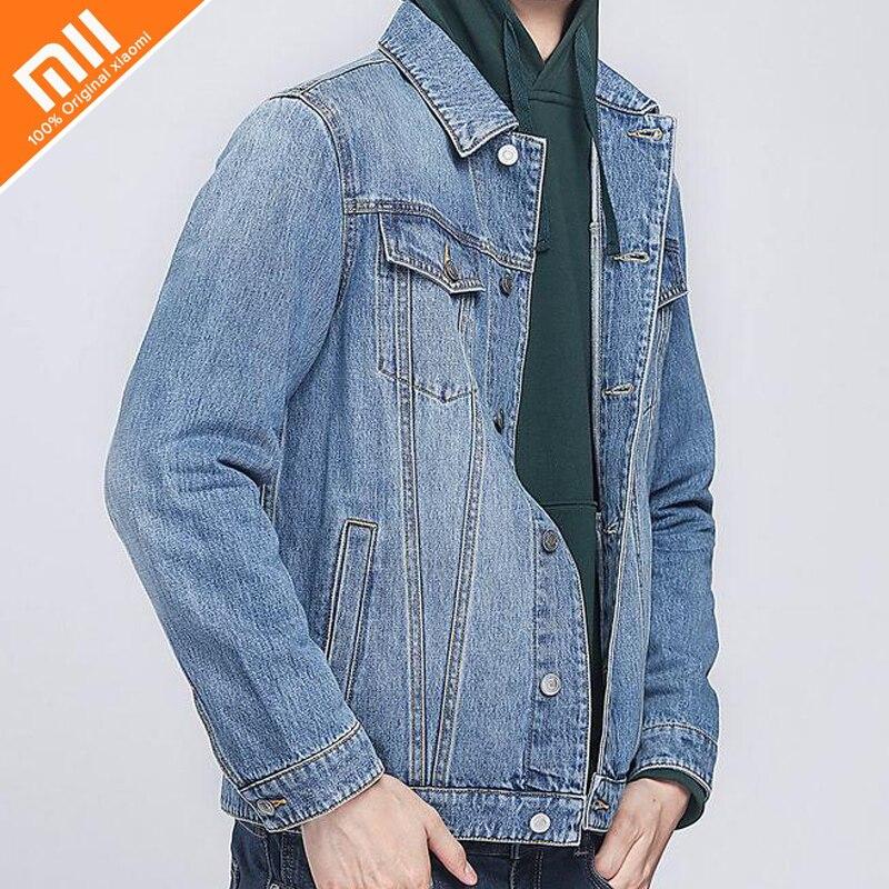 New COTTONSMITH Mia pilot men's 100% cotton casual jacket autumn men's simple denim jacket fashion brand men's jacket xiaomi cottonsmith stylish denim jacket 100