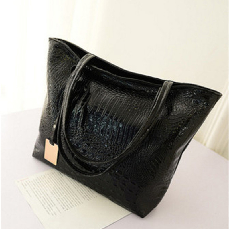 Fashion casual crocodile pattern lady bag large shopping bag W3-004