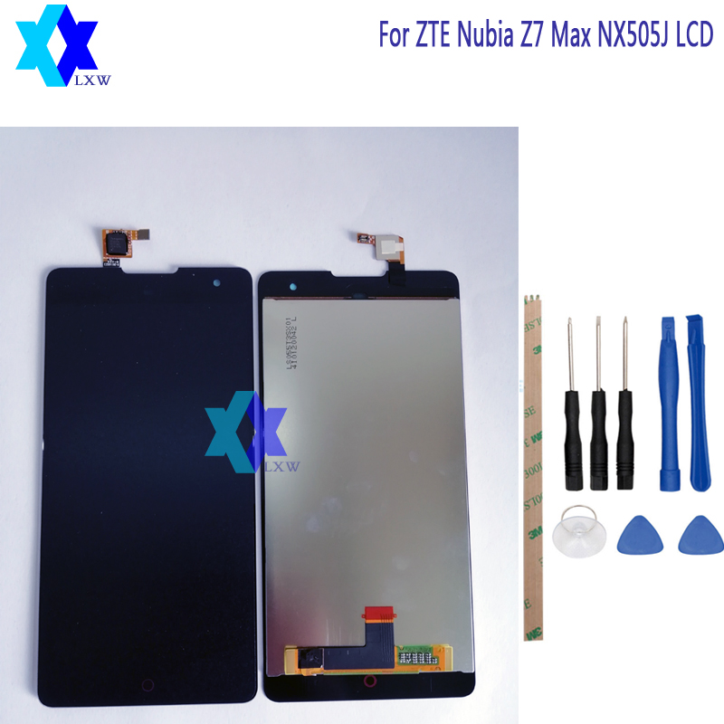 For ZTE Nubia Z7 Max NX505J LCD Display+Touch Screen Panel Digital Replacement Parts Assembly Original 5.5 inch 1920x1080P