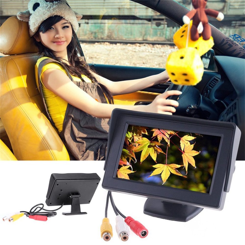 4.3inch Car-styling TFT LCD Car Monitor Reverse Rearview Color Camera DVD VCR CCTV Auto Parking Assistance Backup Reverse Camera