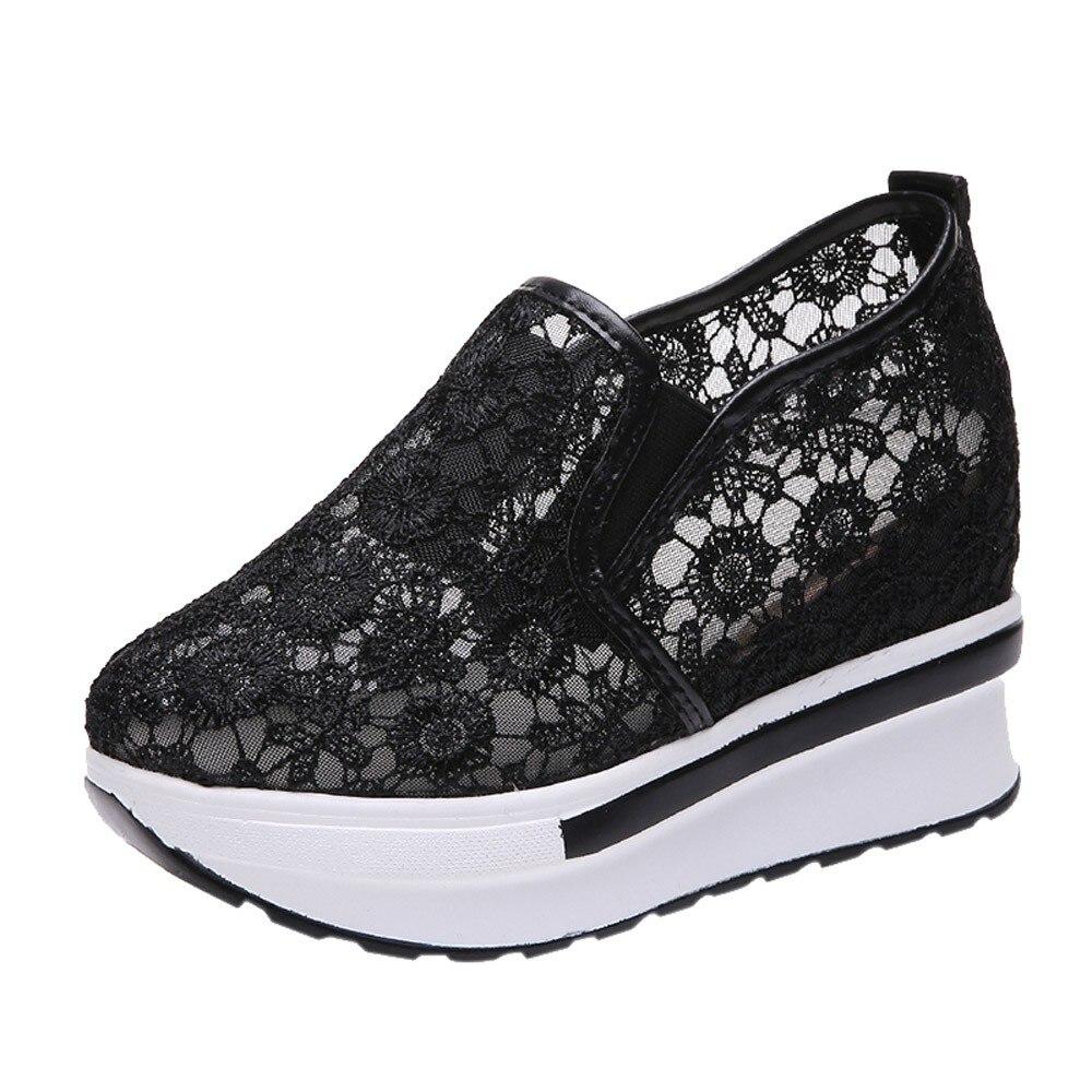 2018 Frühling Sommer Loch Schuhe Frau Flache Plattform Frauen Schuhe Slip Auf Frauen Müßiggänger Dicken Sohlen Weiblichen Schuh