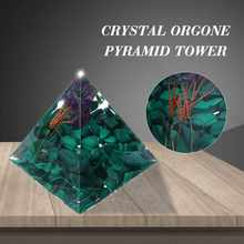 Crystal Green Tree of Life Energy Circle Healing Crystal Reiki Pyramid Chakras Natural Stone Orgone Orgonite Pyramids Fengshui(China)