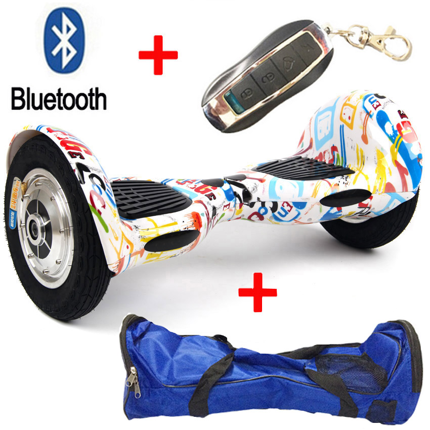 10 Inch 2 Wheel Self Electric Standing Scooter Unicycle Skateboard font b hoverboard b font Bluetooth