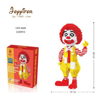 Joyyifor 2100PCS McDonald Uncle Red hair Clown Action Figure Restaurant Diamond Mini Building Nano Blocks Brick Toy Kids Gifts