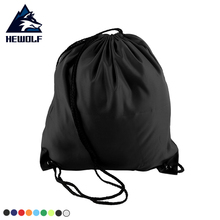 Фотография Hewolf Outdoor Portable Waterproof Drawstring Bag Travel Bags Hiking Rucksack Cycling Backpack Portable Housing Gym Bag