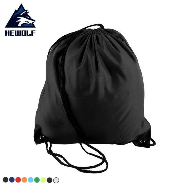 b8d548ca393f Hewolf Outdoor Portable Waterproof Drawstring Bag Travel Bags Hiking  Rucksack Cycling Backpack Portable Housing Gym Bag