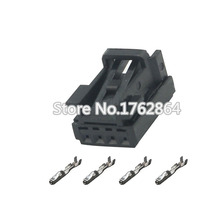 цена на 10PCS Automotive connector 4P bit hole male and female connector connector terminal connector DJ7045B-0.6-21 matching