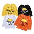 Kids T Shirt baby boy Girl T-Shirt Cartoon Letter  clothing Long Sleeve Tee Children cotton Tops Infant tshirt pokemon