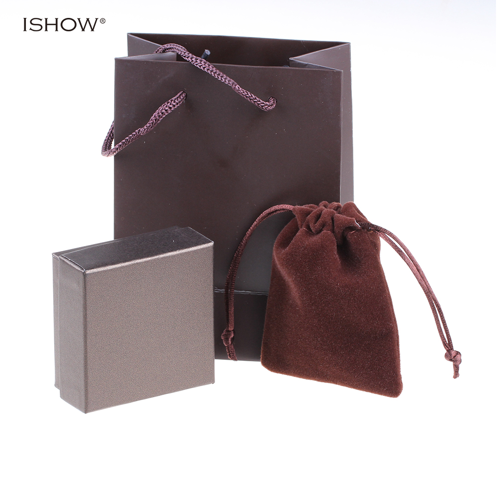 Brown Packing Gift bags 15.5cm*11.5cm Packing boxes 7.3cm*7.3.m package For jewelry For Gift