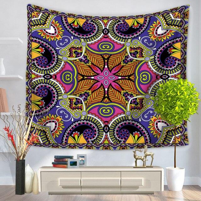 Indian Mandala Printed Tapestry Wall Hanging Hippie Throw Bohemian Bedspread Beach Yoga Mat Throw Towel Decor Mandala Tapestry