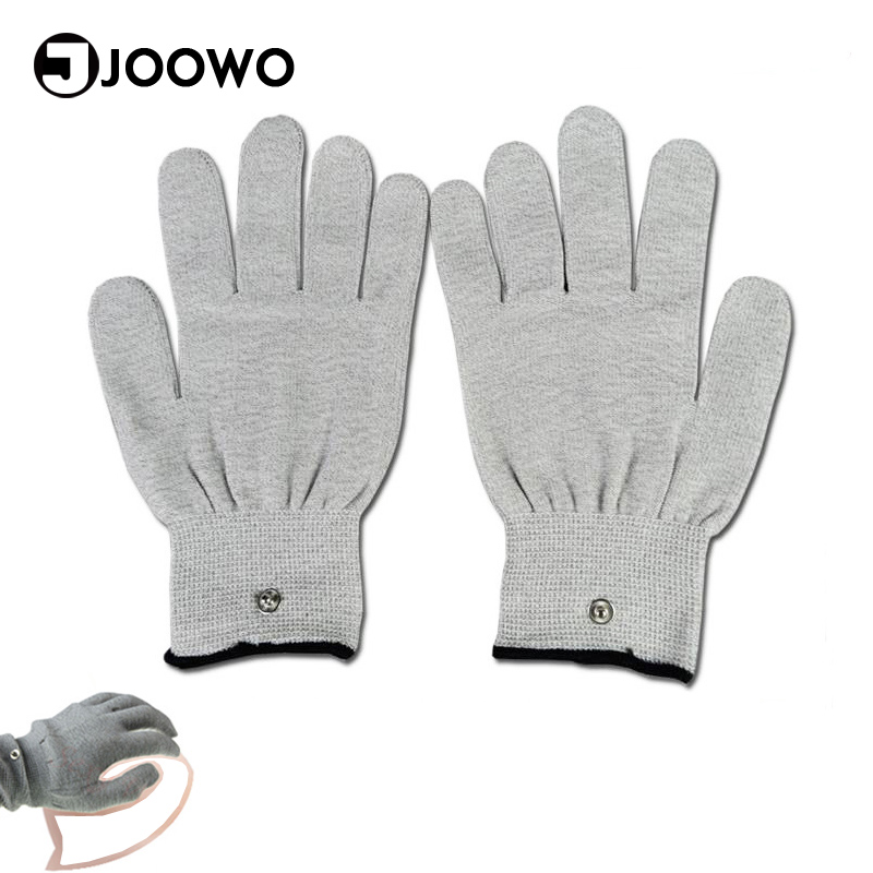1 Pair Electrical Shock Silver Fiber Therapy Electrode <font><b>Gloves</b></font> <font><b>Electro</b></font> Shock <font><b>Gloves</b></font> Electricity Conductive <font><b>Gloves</b></font> <font><b>Sex</b></font> Products image